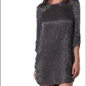 Parker gray sequin mini dress